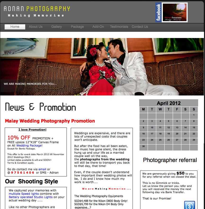Adnan Photography Malay Wedding Services