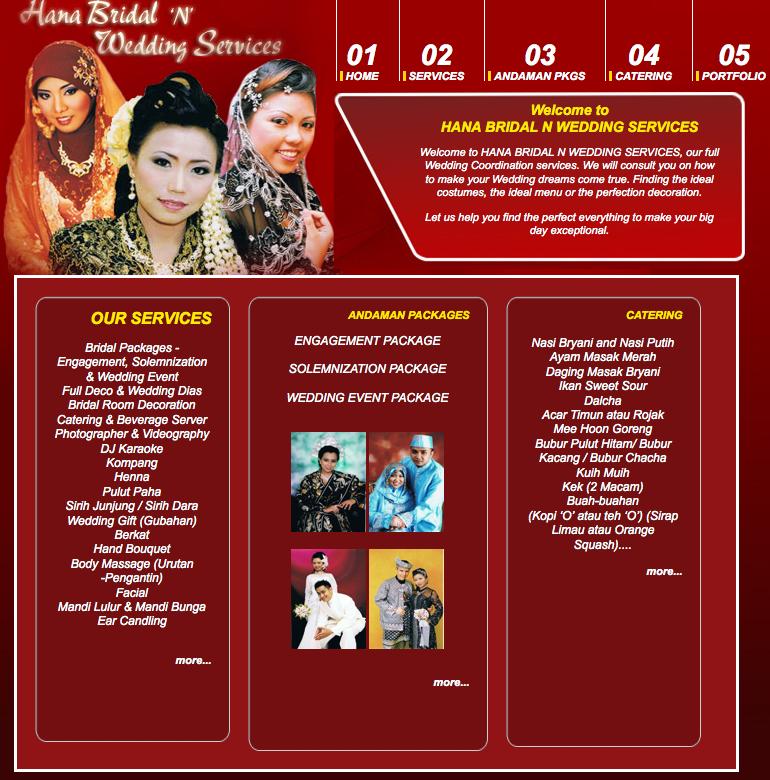 Hana Bridal N Wedding Services Malay Wedding Services