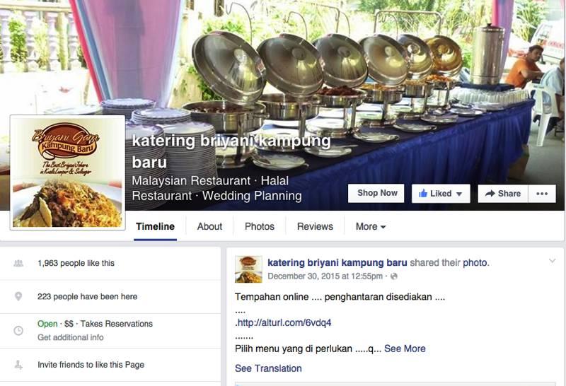 Katering Briyani Kampung Baru Malay Wedding Services