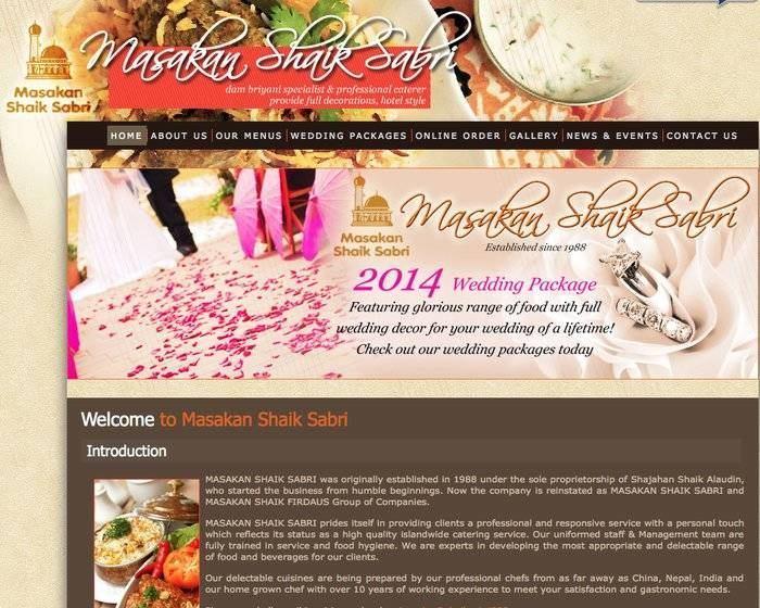 Masakan Shaik Sabri Malay Wedding Services
